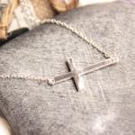 collier croix argente
