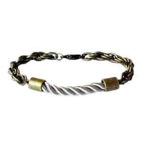 Bracelet cordon gris