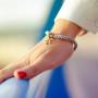 Bracelet en soie etoile