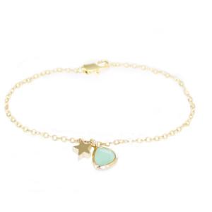 Bracelet fantaisie étoile 14k
