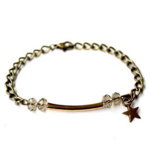 Bracelet quartz fume étoile