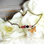 Bracelet vintage papillon