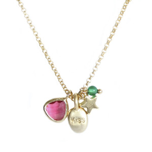 Collier Multicharms Kiss