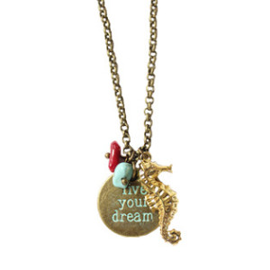 COLLIER LIVE YOUR DREAMS- SEAHORSE GOLD I