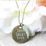 Collier live laugh love