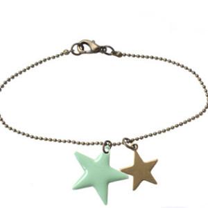Bracelet fantaisie- Etoile émaillée