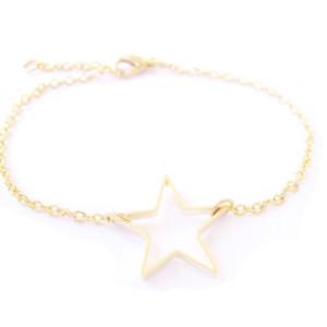 bracelet etoile doré bijoux