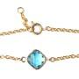 bracelet fantaisie aquamarine