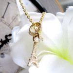 collier tour eiffel bague