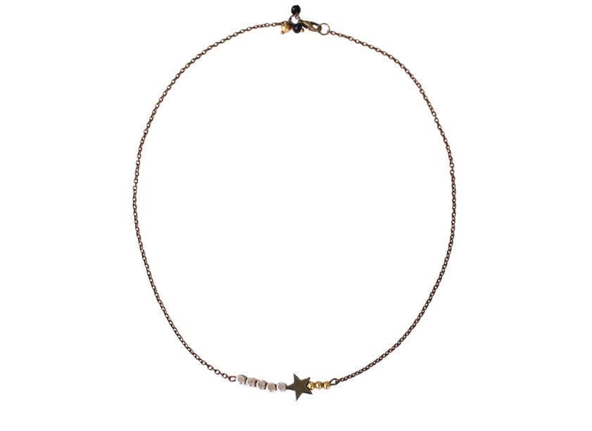 0907eb4ef0807 Accueil   Bijoux Créateur   Collier chic Bohême étoile.  collier createur etoile bijoux fantaisie en ligne les jumelles