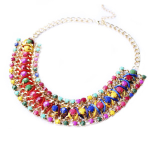 collier lea multicolore