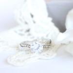 Bague vintage diamantée