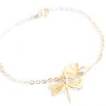 Bracelet-fantaisie-libellule-trefle été 2014