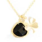 Bijoux tendance 2014. bijoux-fantaisie-trefle-noir-or