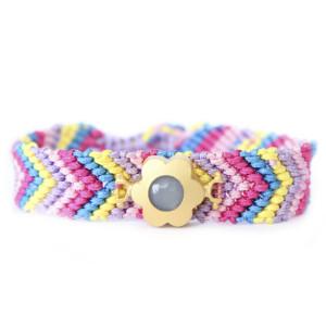 Bracelet Bresilien rose aquamarine