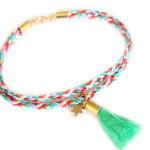 Bracelet fantaisie- Bresilien- Pompon- etoile