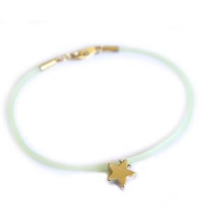 Bracelet fantaisie mint etoile