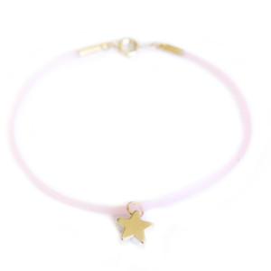 bracelet etoile rose