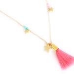 collier fantaisie pompon