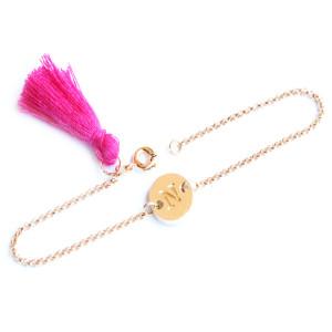 Bracelet personnalisé lettre or