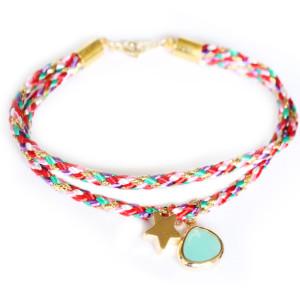 Bracelet pierre aigue marine. Bracelets brésiliens de créateur