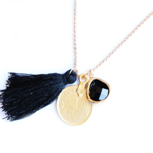 collier fantaisie medaille  (2)