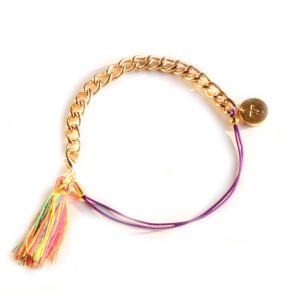 bracelet tendance personnalisé pompon