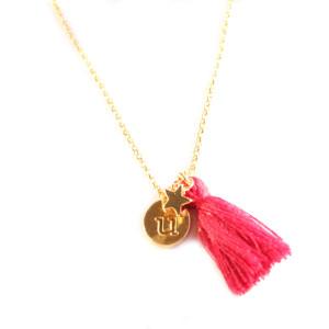 collier lettre personnalisé plaqué or