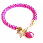bracelet cordon rose
