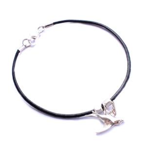 bracelet cuir oiseau