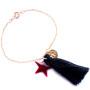 bracelet personnalisé pompon