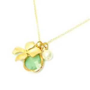 collier fantaisie jade vert