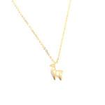 collier minimaliste dore