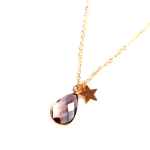 collier quartz fumé