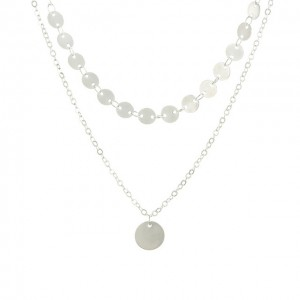 collier multi rangs argent